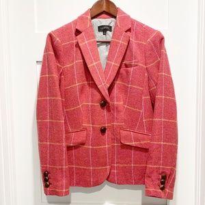 Talbots Coral Pink 2-Button Wool Blend Blazer